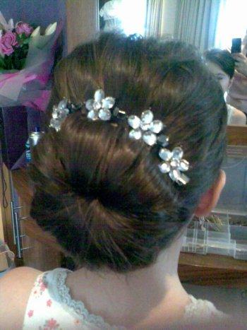 flowergirl hairstyles. Bridesmaids:flowergirl