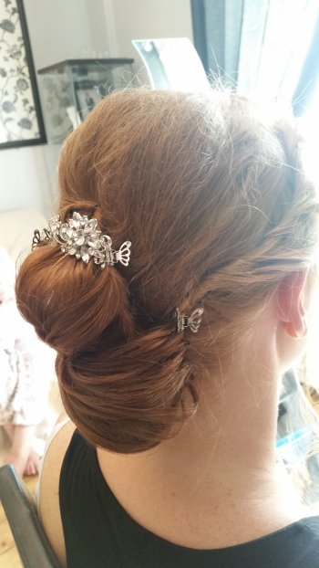 Simple braided wedding hair style