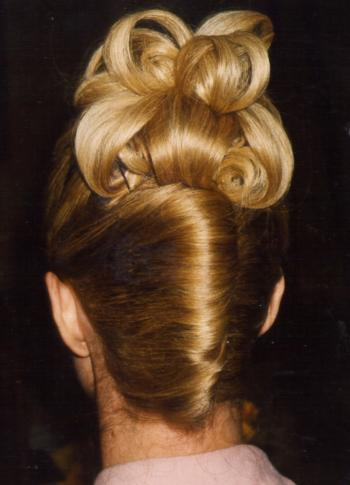 Wedding hair up style - elegant with barrel curls