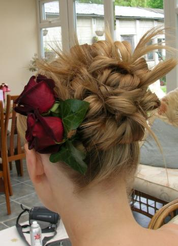 Wedding hair up style - funky look