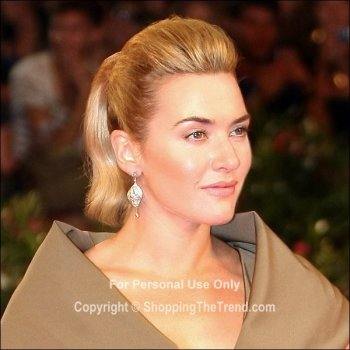 Kate Winslet stunning quiff hair style