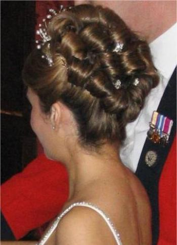 Wedding hair up style traditional