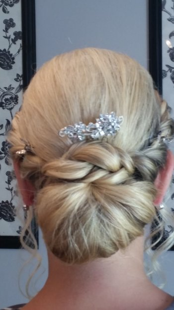 Plaited hairstyle vintage